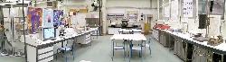 Vue panoramique du laboratoire de matériaux